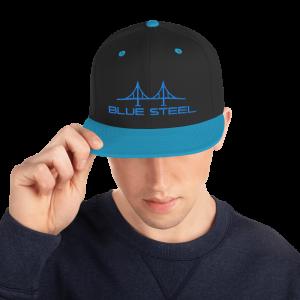 Blue Steel Snapback Hat