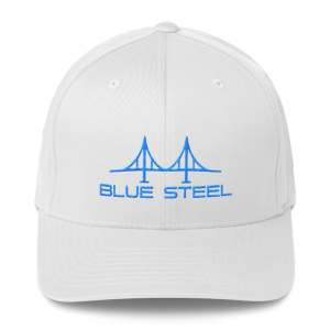 Blue Steel Flex-fit Structured Twill Cap (available in 7 colors)