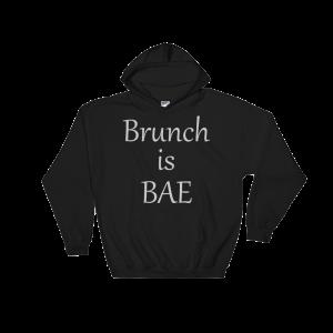 Brunch is Bae Hooded Sweatshirt-Light Print