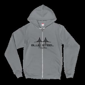 Blue Steel Promotions Flex Fleece Zip Hoodie in Asphault