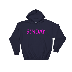 Sunday Hooded Sweatshirt-Prink Print