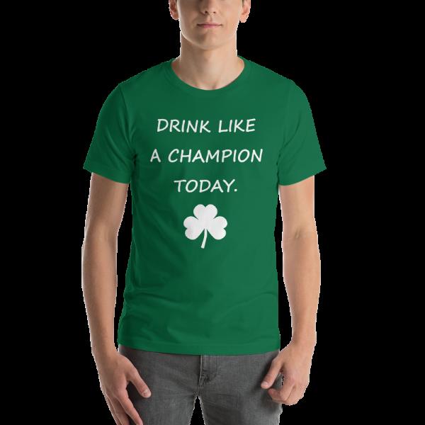 St Paddy's Drink Like a Champion Men's T-shirt-White Print